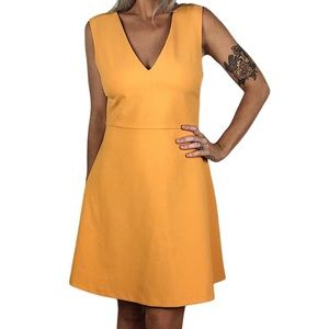 Zara Woman orange cut out dress size M